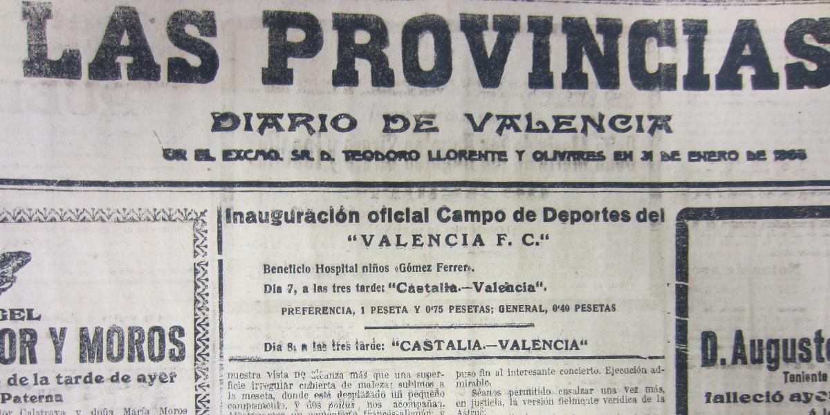 07.12.1919: Valencia CF 0 - 0 Castalia FC