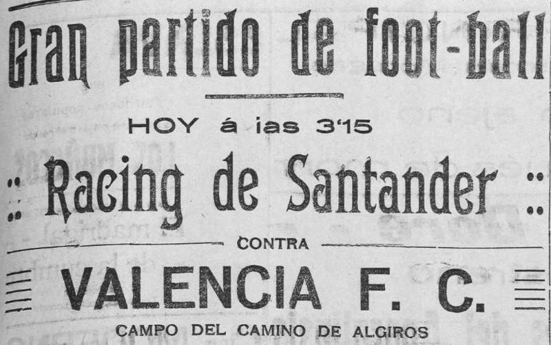 23.01.1923: Valencia CF 5 - 1 Rac. Santander