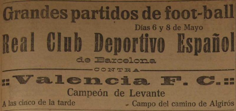 06.05.1923: Valencia CF 4 - 2 RCD Espanyol