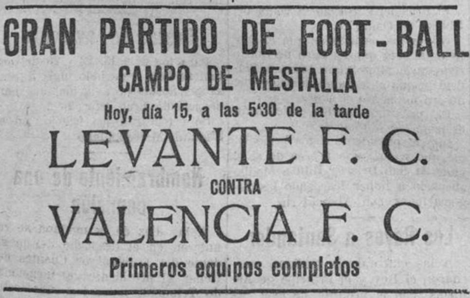 15.07.1923: Valencia CF 7 - 1 Levante UD