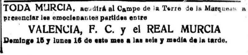 15.06.1924: Real Murcia 1 - 1 Valencia CF
