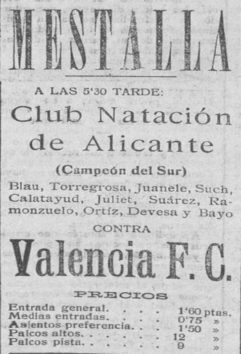 19.07.1925: Valencia CF 7 - 0 Nat. Alicante