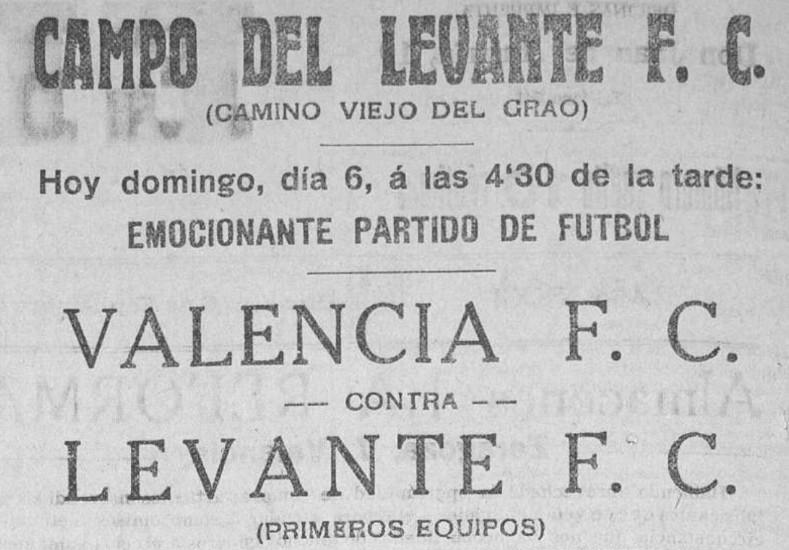 06.09.1925: Levante UD 4 - 3 Valencia CF