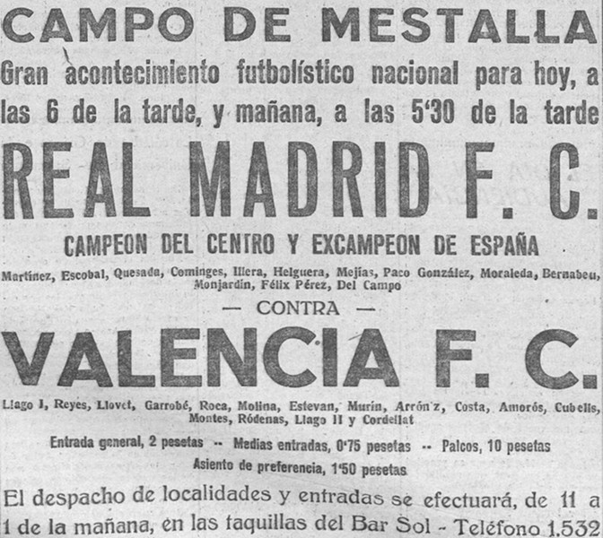 02.05.1926: Valencia CF 0 - 0 Real Madrid