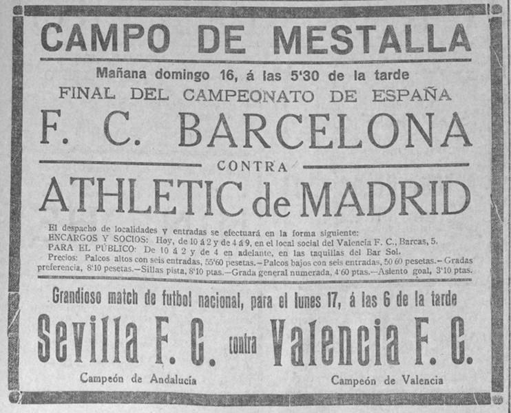 17.05.1926: Valencia CF 1 - 3 Sevilla FC
