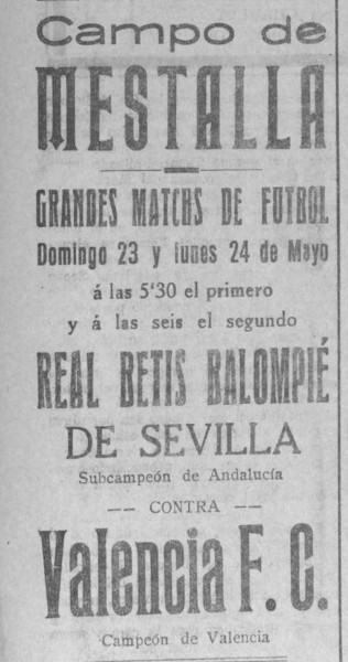 23.05.1926: Valencia CF 7 - 1 Real Betis