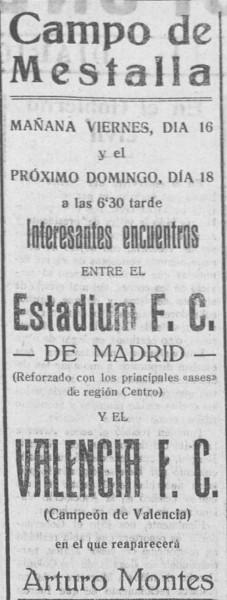 18.07.1926: Valencia CF 2 - 1 St. Madrid