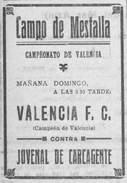 06.02.1927: Valencia CF 5 - 0 CD Juvenal