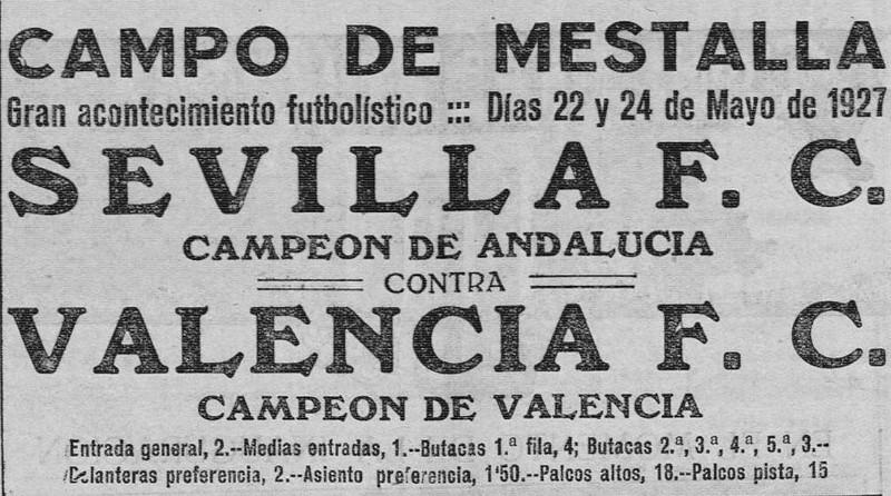 22.05.1927: Valencia CF 3 - 2 Sevilla FC
