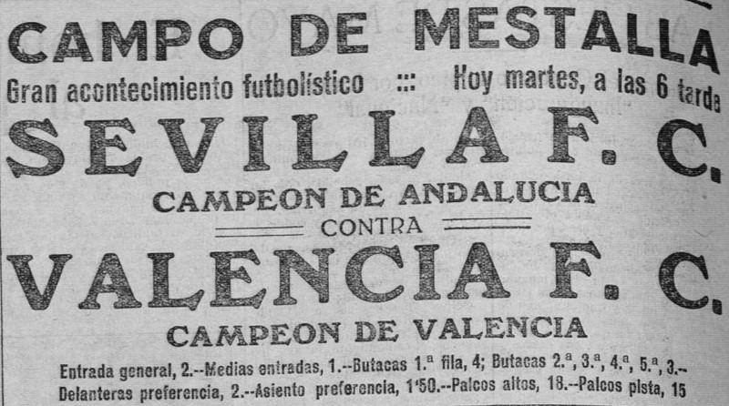 24.05.1927: Valencia CF 5 - 0 Sevilla FC