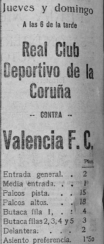 26.05.1927: Valencia CF 3 - 1 Dep. Coruña