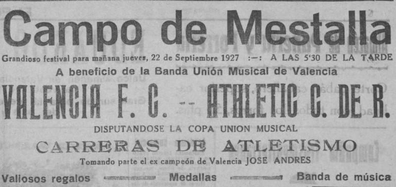 22.09.1927: Valencia CF 2 - 0 SC Ruzafa