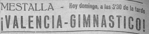 02.10.1927: Valencia CF 2 - 1 Gimnástico CF