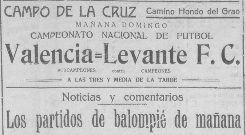 19.02.1928: Levante UD 1 - 3 Valencia CF