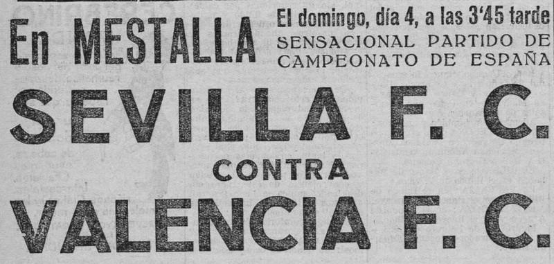 04.03.1928: Valencia CF 1 - 1 Sevilla FC