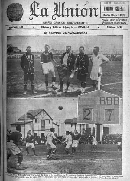 08.04.1928: Sevilla FC 7 - 2 Valencia CF