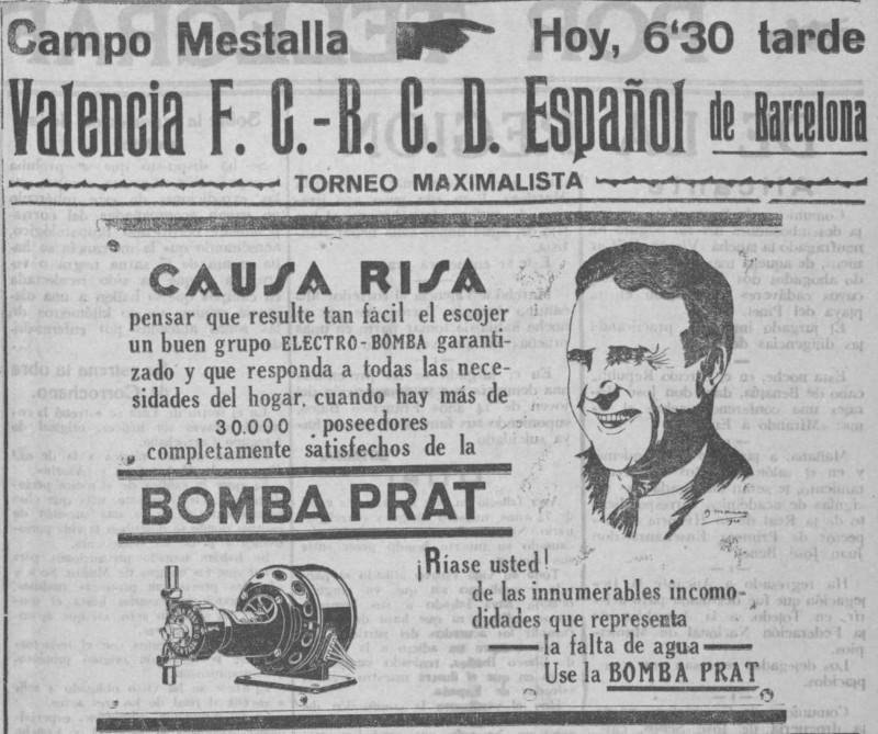 10.06.1928: Valencia CF 0 - 7 RCD Espanyol