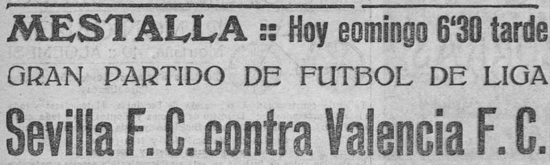 24.06.1928: Valencia CF 2 - 0 Sevilla FC