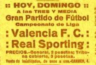 10.03.1929: Sporting Gijón 3 - 1 Valencia CF