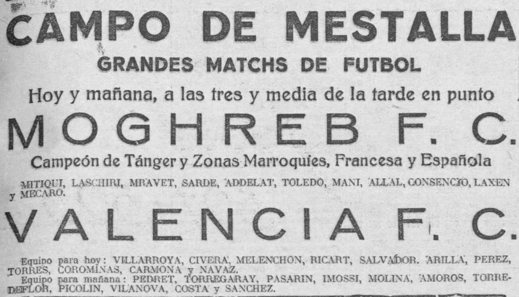 12.10.1929: Valencia CF 5 - 4 Mogreb Atlético