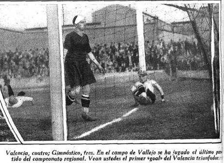 15.11.1931: Gimnástico CF 3 - 4 Valencia CF