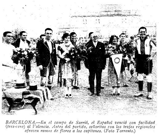 22.11.1931: RCD Espanyol 3 - 0 Valencia CF