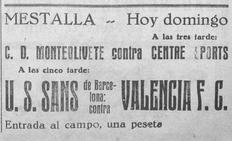 05.06.1932: Valencia CF 6 - 1 UE Sants
