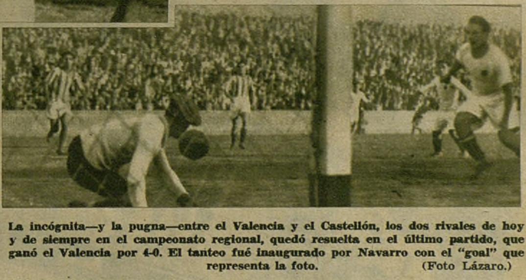 30.10.1932: Valencia CF 4 - 0 CD Castellón