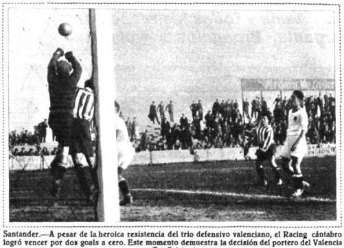 18.12.1932: Rac. Santander 2 - 0 Valencia CF