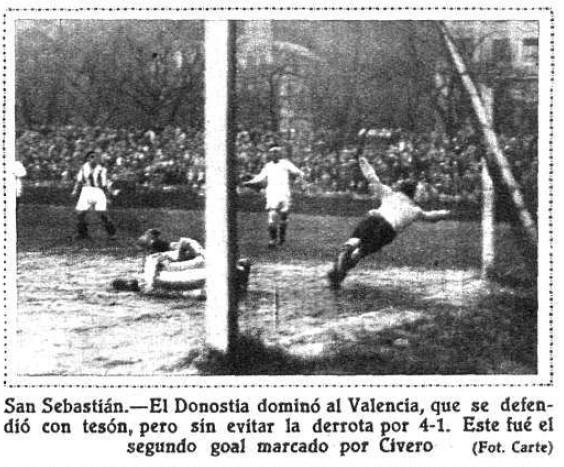 08.01.1933: Real Sociedad 4 - 1 Valencia CF
