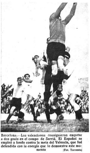18.02.1934: RCD Espanyol 2 - 2 Valencia CF