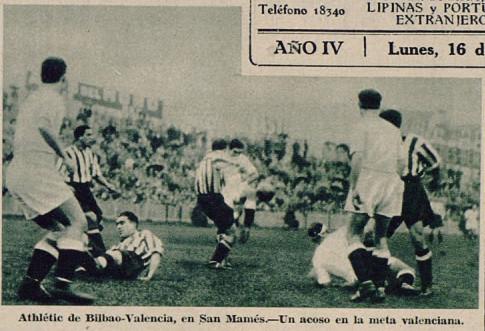15.12.1935: Athletic Club 3 - 2 Valencia CF