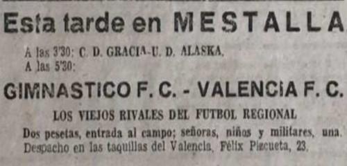 29.06.1939: Valencia CF 5 - 1 Gimnástico CF