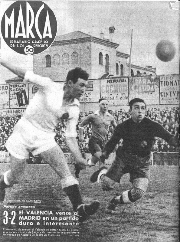 06.04.1941: Real Madrid 2 - 3 Valencia CF