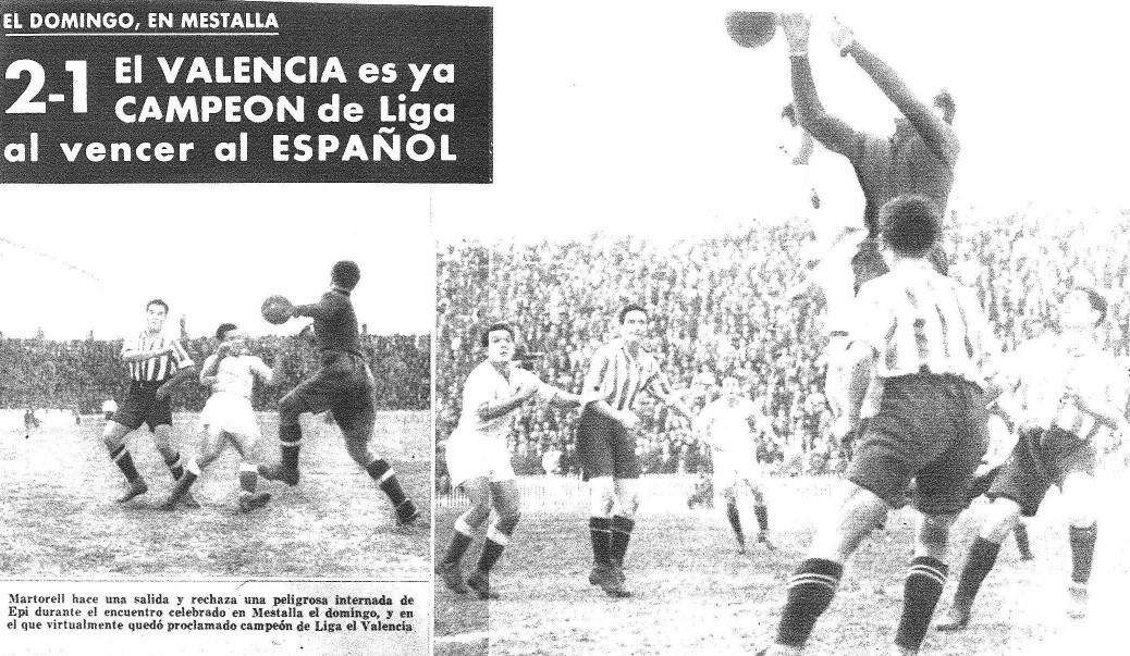 22.03.1942: Valencia CF 2 - 1 RCD Espanyol