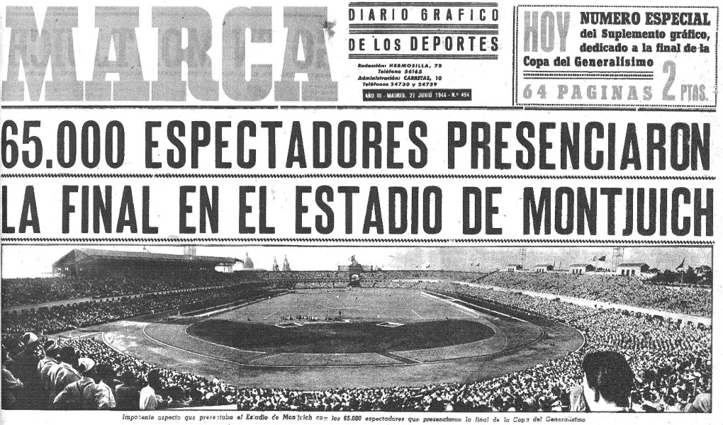 25.06.1944: Athletic Club 2 - 0 Valencia CF