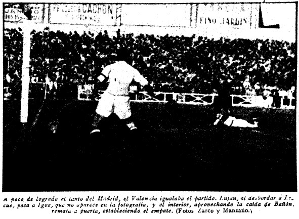 07.10.1945: Real Madrid 1 - 1 Valencia CF