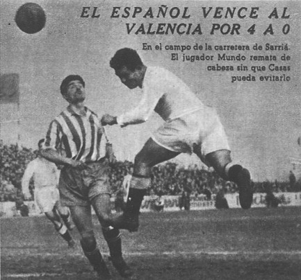 24.03.1946: RCD Espanyol 4 - 0 Valencia CF