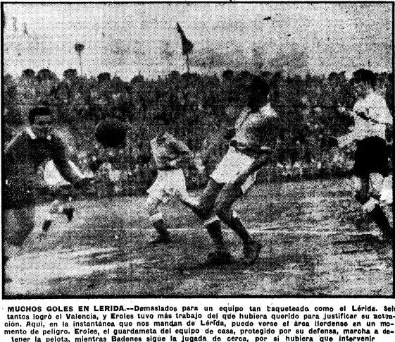 04.02.1951: UE Lleida 1 - 6 Valencia CF