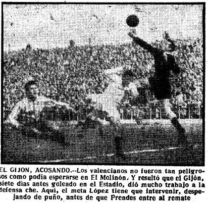 13.01.1952: Sporting Gijón 2 - 0 Valencia CF