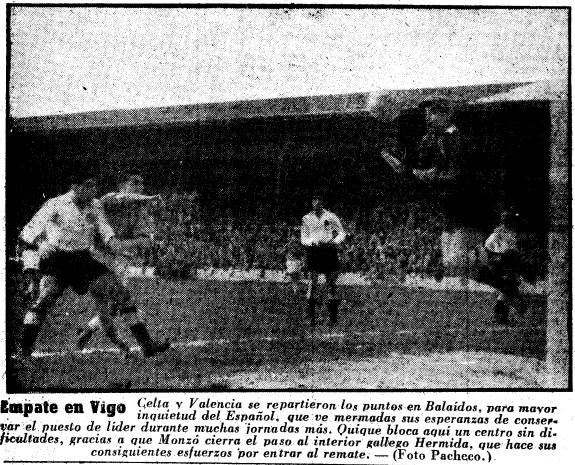 25.01.1953: Celta de Vigo 1 - 1 Valencia CF