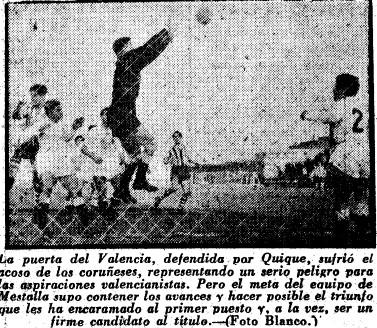 15.03.1953: Dep. Coruña 1 - 2 Valencia CF