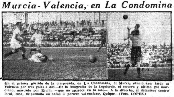 05.09.1953: Real Murcia 3 - 2 Valencia CF