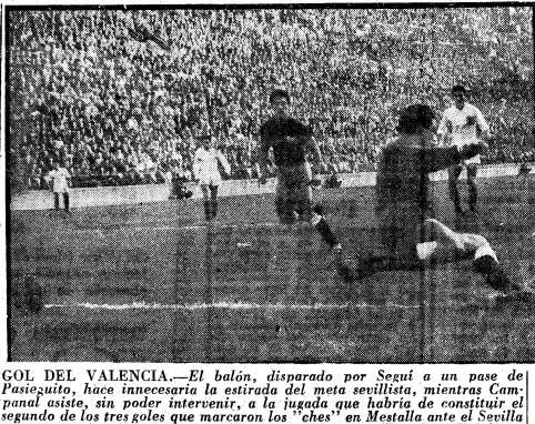 01.01.1956: Valencia CF 3 - 0 Sevilla FC