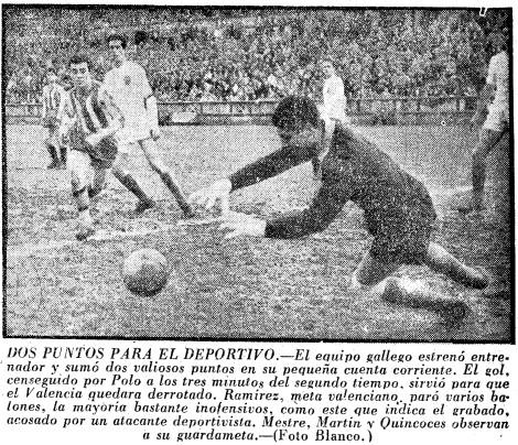 10.02.1957: Dep. Coruña 1 - 0 Valencia CF