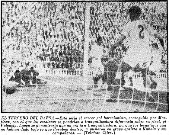 24.02.1957: FC Barcelona 3 - 2 Valencia CF