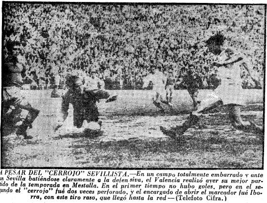 28.04.1957: Valencia CF 2 - 0 Sevilla FC