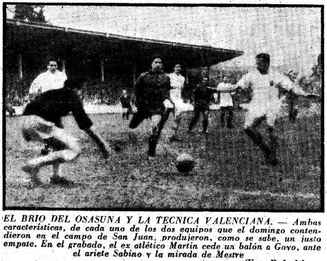 15.12.1957: CA Osasuna 2 - 2 Valencia CF