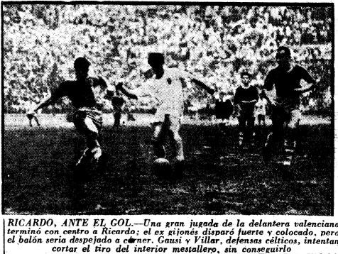 23.03.1958: Valencia CF 1 - 1 Celta de Vigo