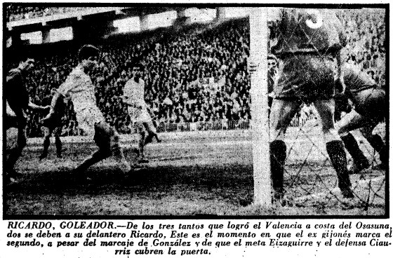 20.04.1958: Valencia CF 3 - 0 CA Osasuna